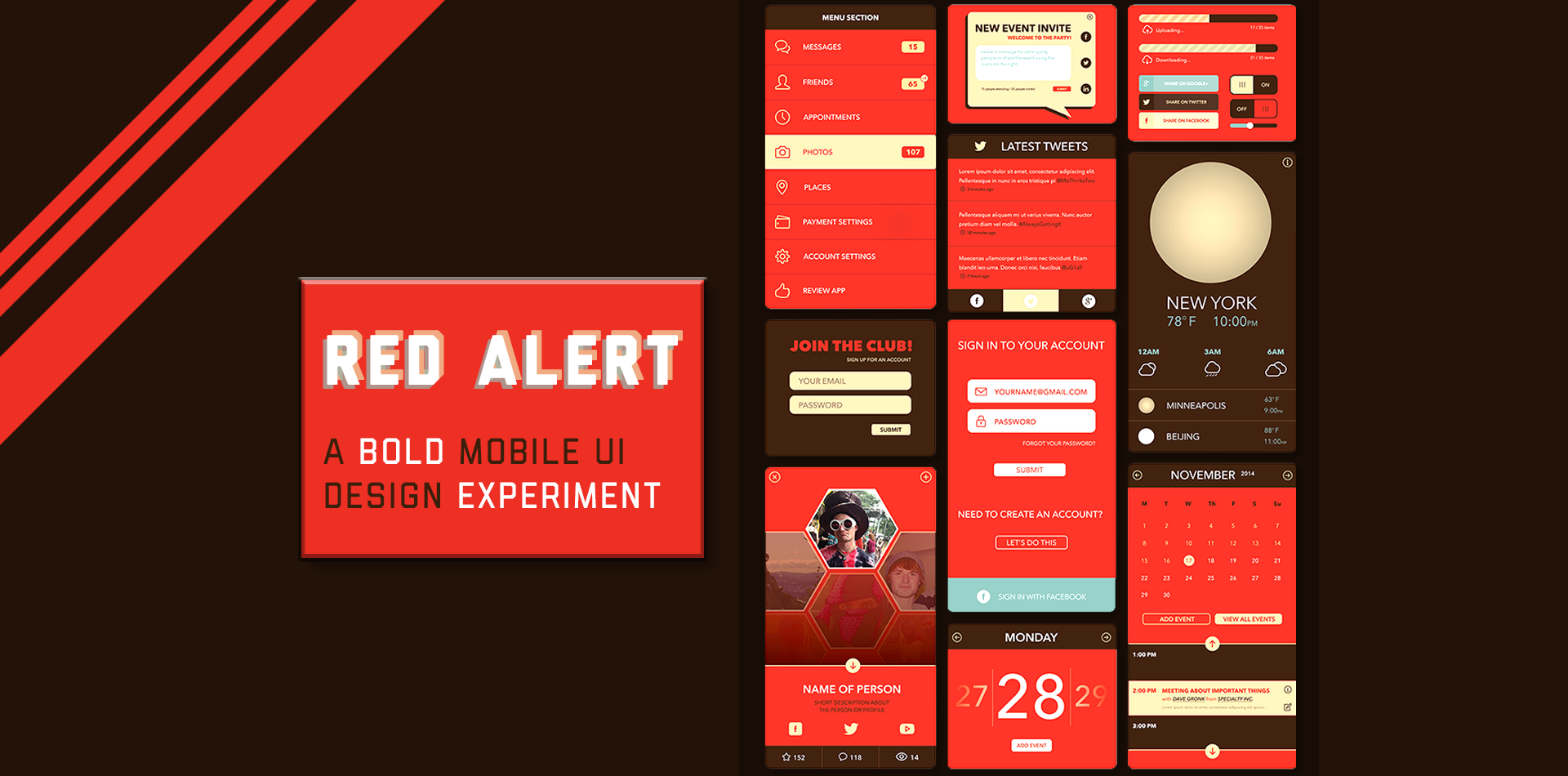 Red Alert! Mobile UI Design